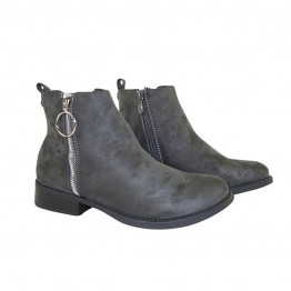 Smart støvle med lynlås