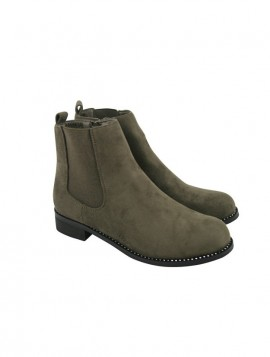 Smart boots i ruskindslook med simili