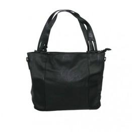 Taske krakeleret PU med kvast
