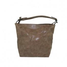 Khaki taske med mindre taske inden i.