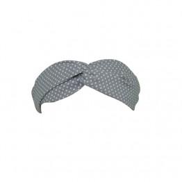 Image of   Gråt hårbånd med prikker