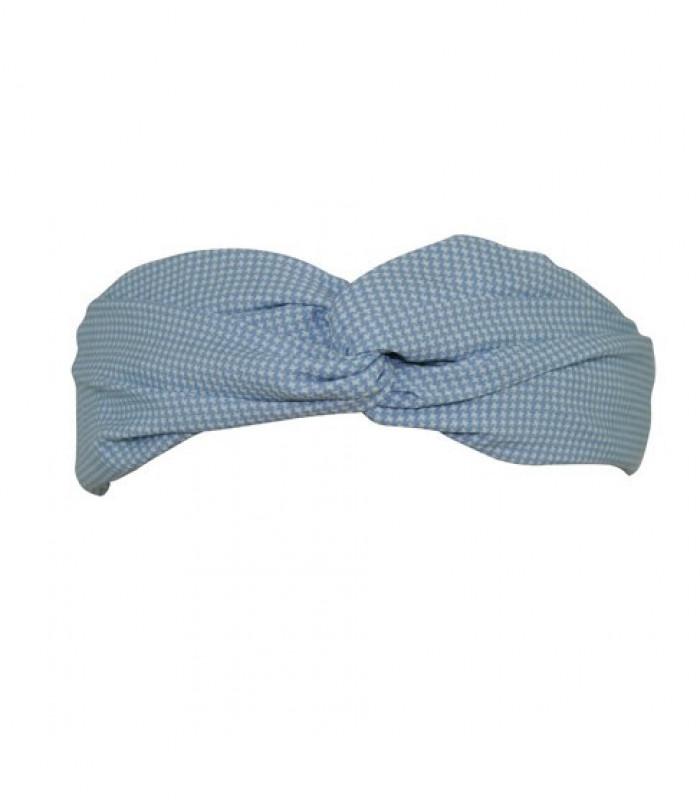 Babyblåt hårbånd med små kryds