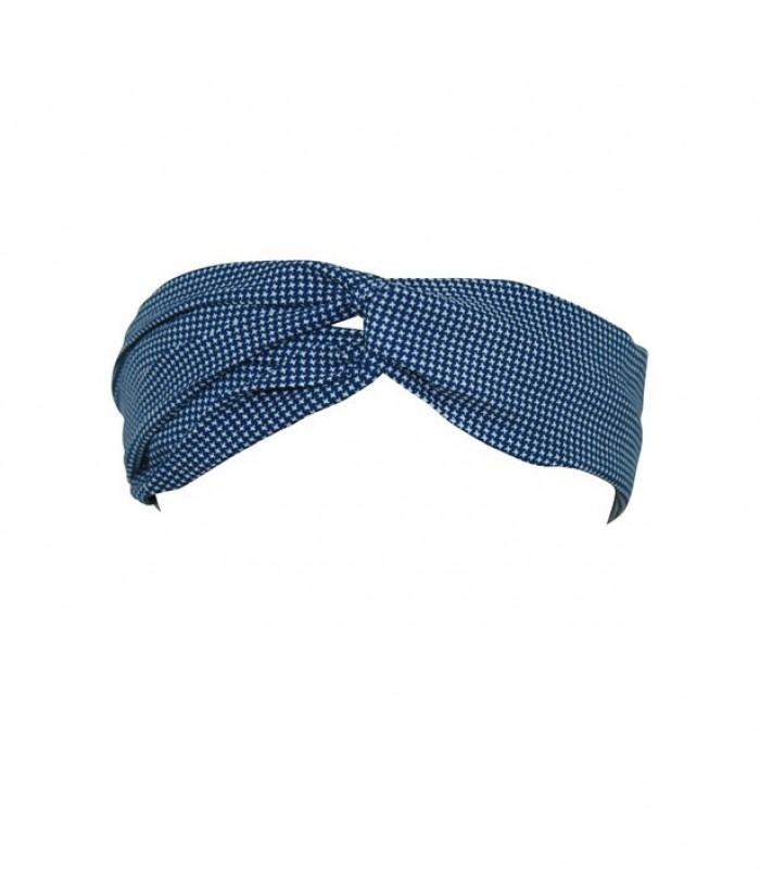 Marineblåt hårbånd med små kryds