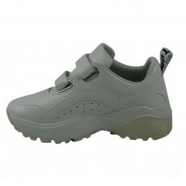 Hvide sneakers med velcrolukning