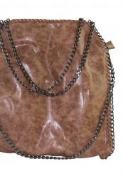 Camel farvet kæde taske