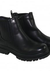 Støvle med elastik og lynlås i siderne