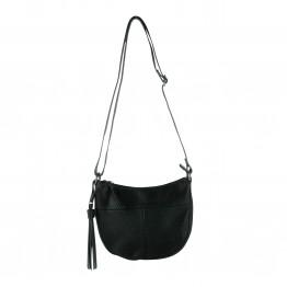 Lille taske i krakeleret læder i PU materiale og pynte kvast
