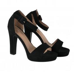 Peeptoe sko med høj hæl