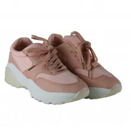 Pinke og hvide sneakers