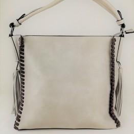 Rummelig taske med store pyntekvaster