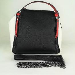 Multifarvet taske med kæderem