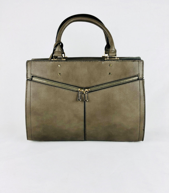Taske i krakeleret læderlook