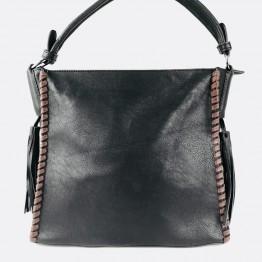 Fed rummelig taske med store pyntekvaster.