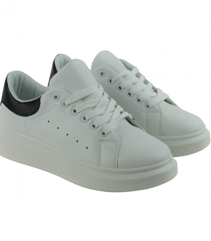 c857584f3208 Nyhed Hvide sneakers med sort detalje