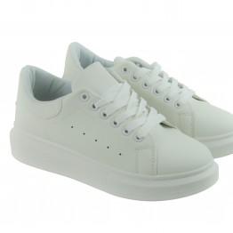 Hvide klassiske sneakers