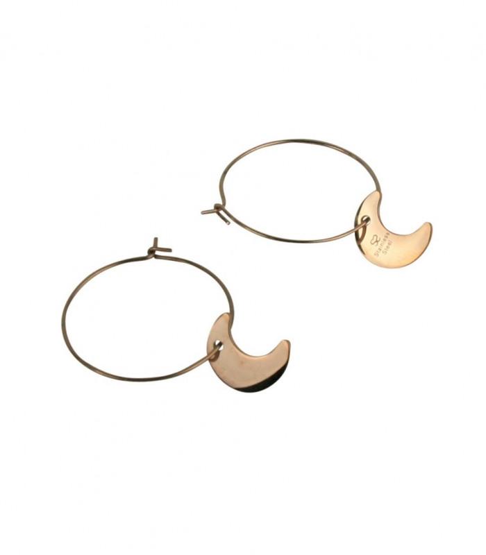 Øreringe med månevedhæng