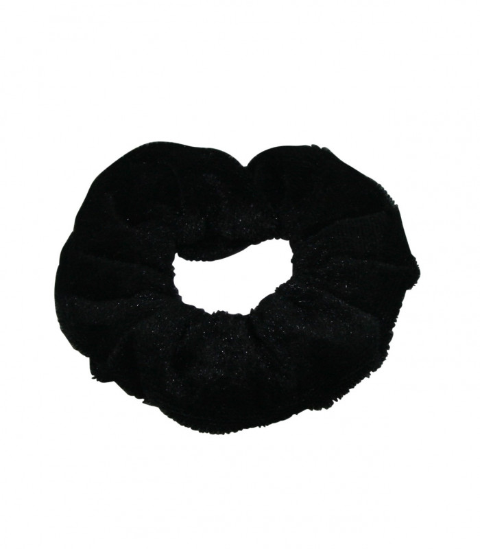 Mini scrunchies velour look