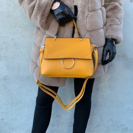 Gul håndtaske