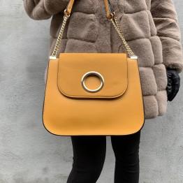 Gul taske med kæderem