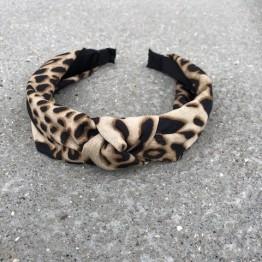 Hårbøjle leopard satin