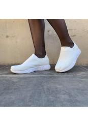Hvide slip in sneakers