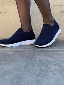 Blå slip in sneakers