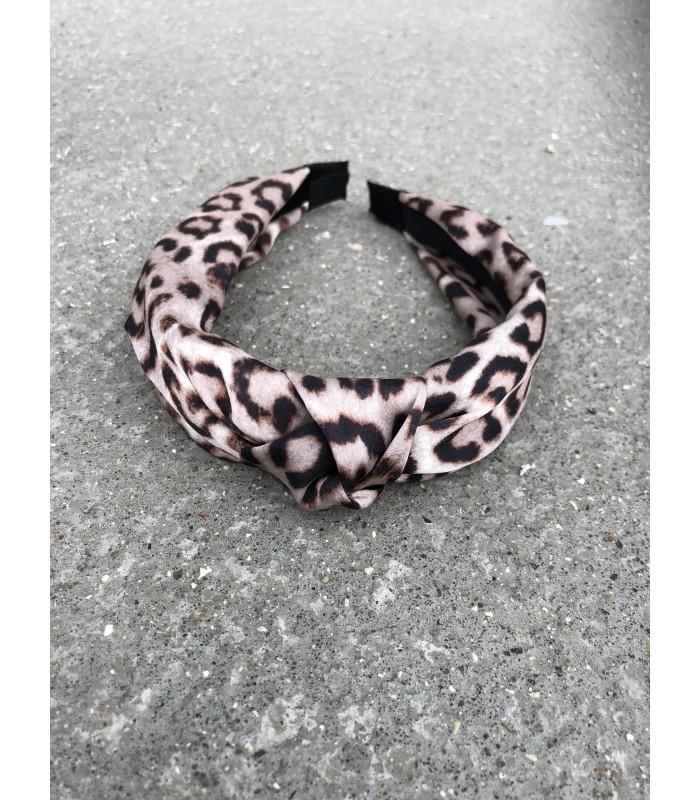 Satin hårbøjle leopard