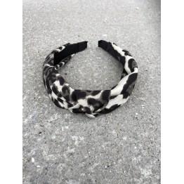 Mørk leopard hårbøjle
