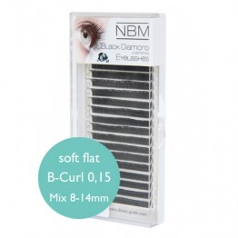 Soft Flat Lashes B-Curl 0,15 Mix
