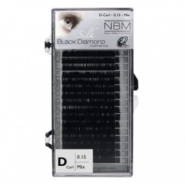 Silk Lashes D-curl 0,15 Mix