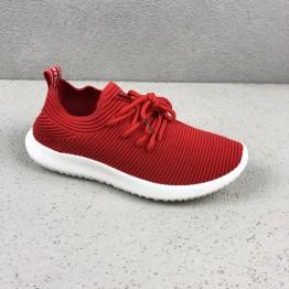 Rød formstrikket Sneakers
