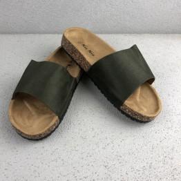 Grøn slip in sandal