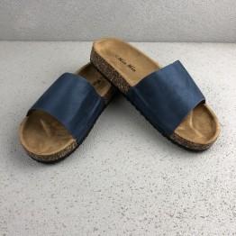 Blå Slip In Sandal