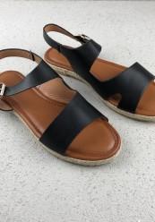 Sort klassisk sandal