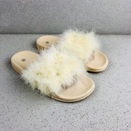 Fluffy Pelsslippers
