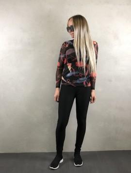 Mesh trøje med print