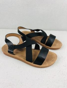 Sandal med elastik rem