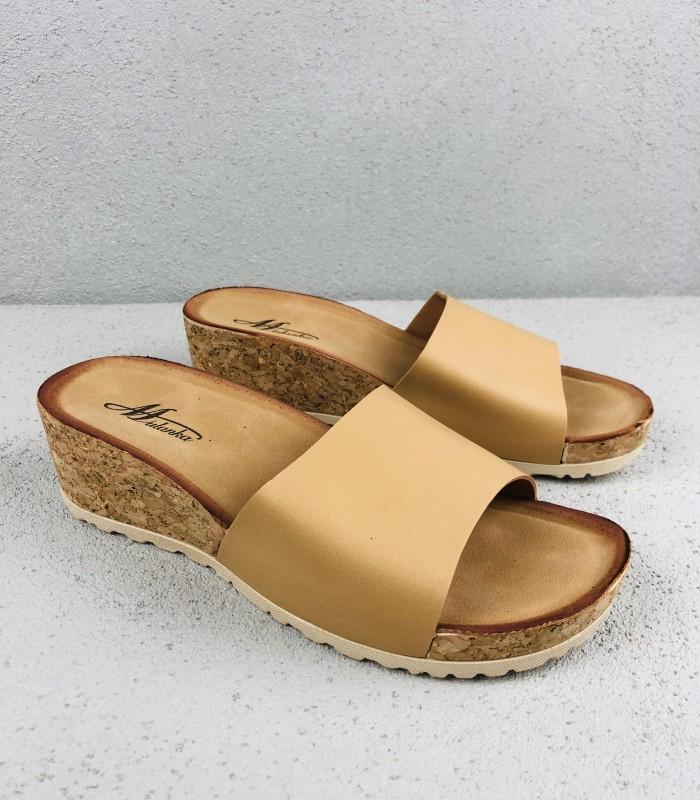 81071a7b52b Slip in sandal med kilehæl | Gratis returlabel | Køb billigt her
