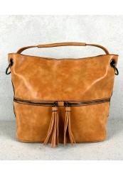 Håndtaske i Camel