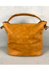 Håndtaske i karrygul