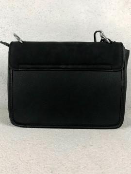 Lille Håndtaske i Sort med Crossover
