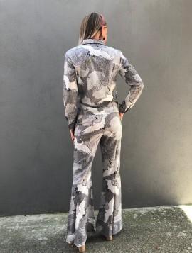 Bukser med fugleprint