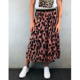 b.young nederdel med leopartprint