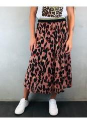b.young nederdel med leopard print