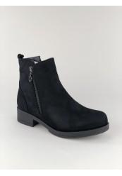 Sort Støvle med lynlås