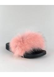 Trend Ægte Pels Sandal i Nude