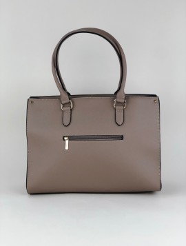 Stor håndtaske med lynlås