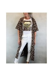 b.young kimono med leopard print