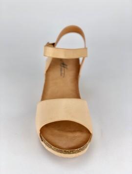 Beige Sandal med Hæl