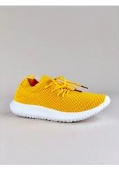 Gul let formstrikket sneakers